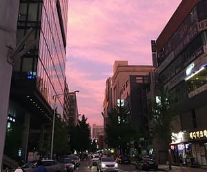 aesthetic, big city, and clouds image