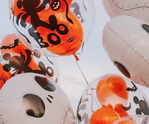 autumn, balloons, and candy image