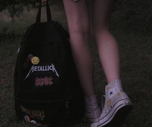 grunge, dark, and backpack image