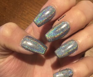 holographic coffin nails image
