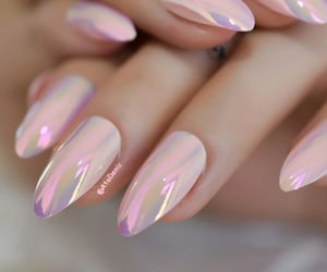pearly pink nails image