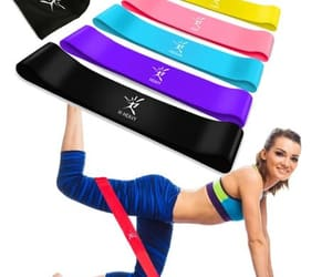 resistance loop bands, rubber bands for fitness, and exerciese rubber tube image
