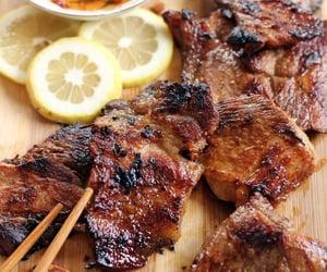 food, lemon, and meat image