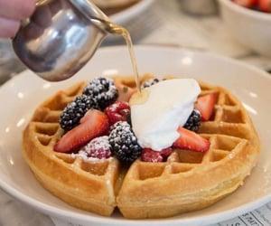 food and waffle image