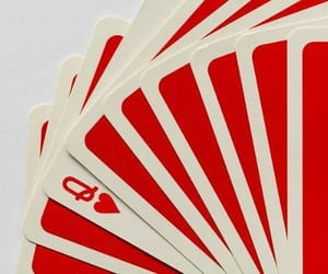 red, aesthetic, and cards image