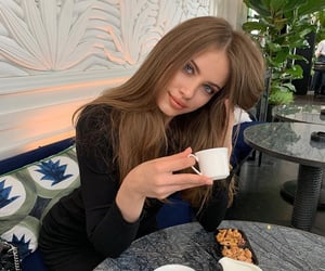 actress, beauty, and cafe image