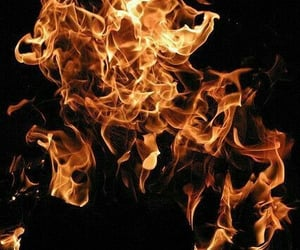 fire and texture image