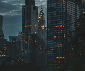 city, buildings, and night image