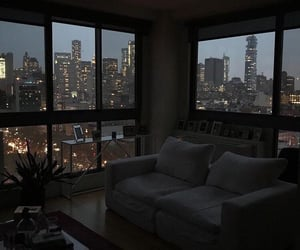 city, night, and home image