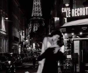 paris, love, and black and white image