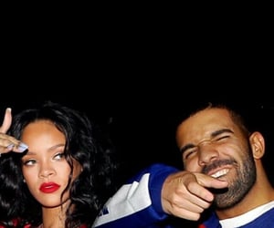 rihanna, Drake, and couple image