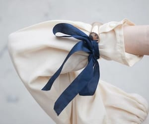 aesthetic, blue, and ribbon image