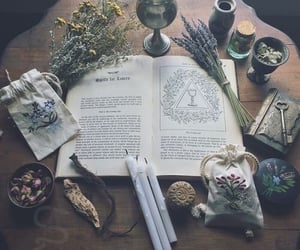 witch, magic, and book image