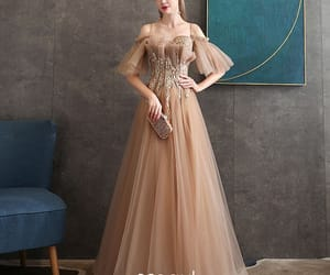 beading, girl, and formal dresses image