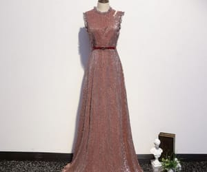 a-line, floor-length, and sequins image