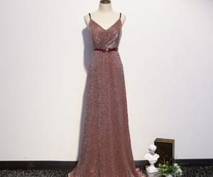 a-line, floor-length, and backless image