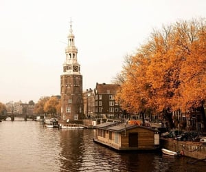 city, netherlands, and fall autumn image