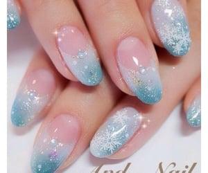 manicure, nailpolish, and christmas nails image