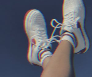 shoes, sky, and sneakers image