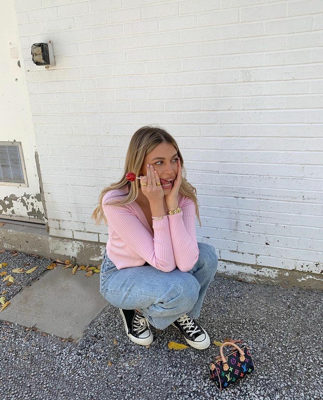 denim, happy, and jeans image