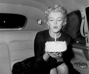 Marilyn Monroe, birthday, and cake image