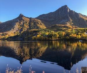 fall, hiking, and lake image