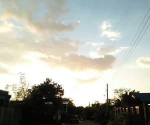 golden hour and sun set village image