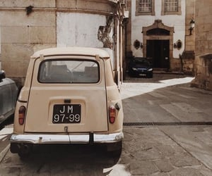 car, architecture, and beige image
