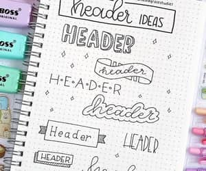 calligraphy, lettering, and bullet journal image