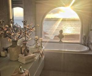 bathroom, home, and sun image