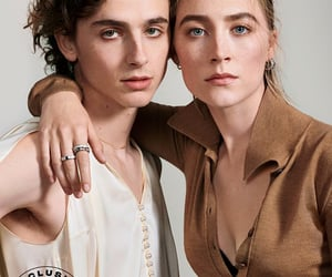 little women, Saoirse Ronan, and timothee chalamet image