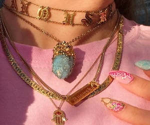 jewelry, aesthetic, and gold image