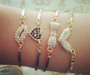 bracelet, heart, and accessories image