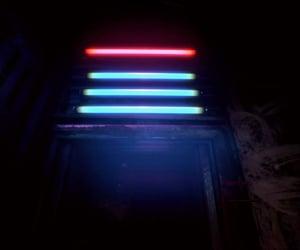 blue, shadows, and cyberpunk image