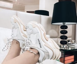 white, Balenciaga, and shoes image