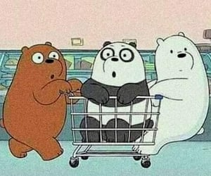 wallpaper, cartoon, and we bare bears image