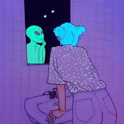 acid, spaceship, and aesthetic image