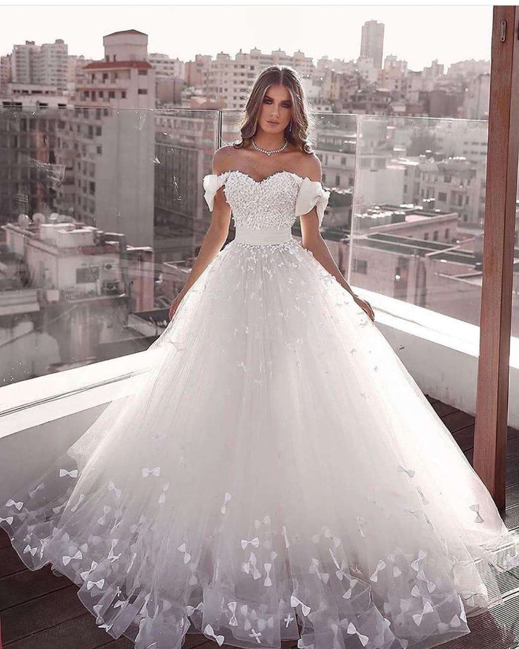 Luxus Hochzeitskleider A Linie  Brautkleider Brautmoden Online
