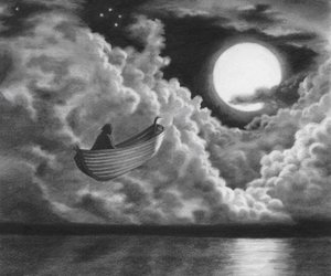 moon and boat image