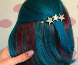 barrette, beauty, and blue image
