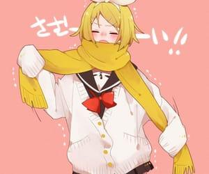 anime girl, kagamine rin, and vocaloid image