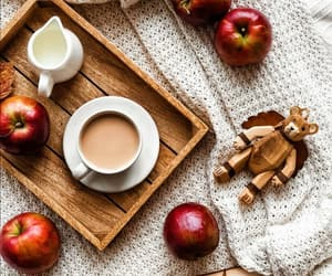 apples, book, and coffee image