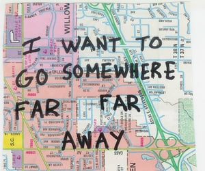 quotes, travel, and map image