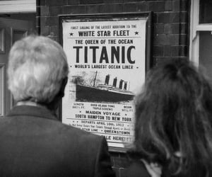 titanic and black and white image