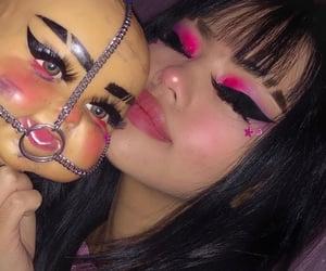girl, makeup, and theme image