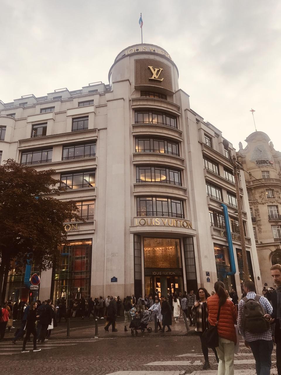 Champs Elysees Louis Vuitton Shop Paris France