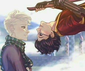 gay, harry potter, and drarry image