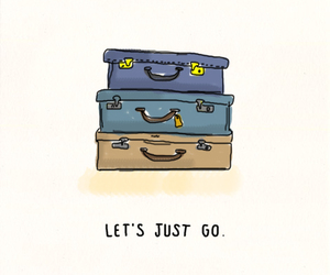 travel, go, and quote image