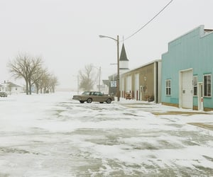 landscape, snow, and town image