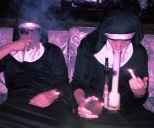 Halloween, nuns, and spooky image